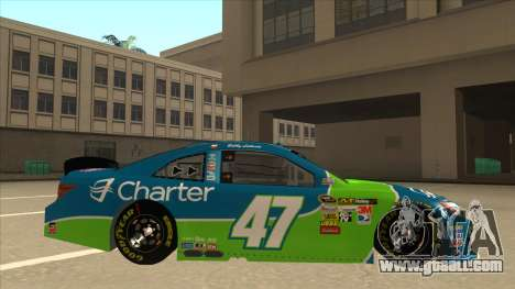 Toyota Camry NASCAR No. 47 Charter for GTA San Andreas back left view