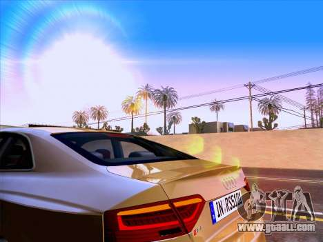 Audi RS5 2012 for GTA San Andreas upper view