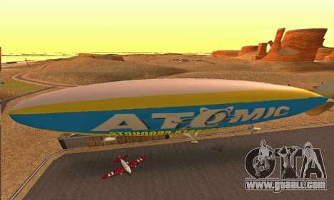 Zepellin GTA V for GTA San Andreas back left view