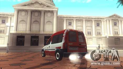 Opel Combo for GTA San Andreas back left view
