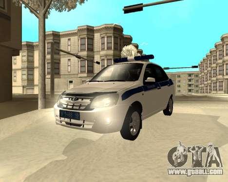Lada Granta 2190 Police v 2.0 for GTA San Andreas