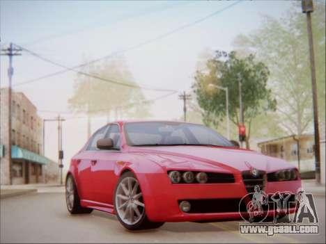 Alfa Romeo 159 Sedan for GTA San Andreas