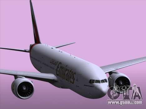 Boeing 777-21HLR Emirates for GTA San Andreas bottom view