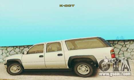 Chevrolet Suburban SAPD FBI for GTA San Andreas inner view