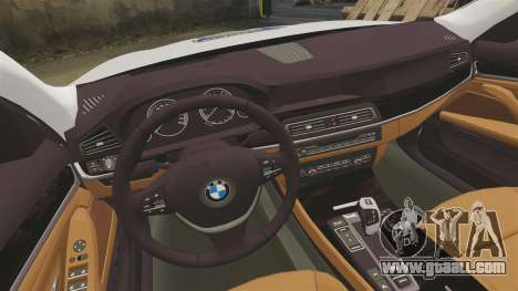 BMW M5 Touring Croatian Police [ELS] for GTA 4 inner view