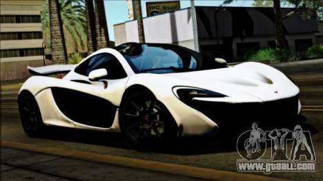 McLaren P1 2014 for GTA San Andreas back left view