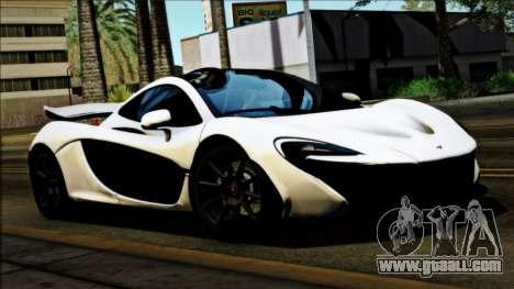 McLaren P1 2014 for GTA San Andreas back left view