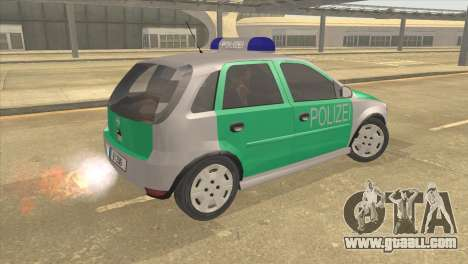 Opel Corsa 1.2 200516V Polizei for GTA San Andreas left view