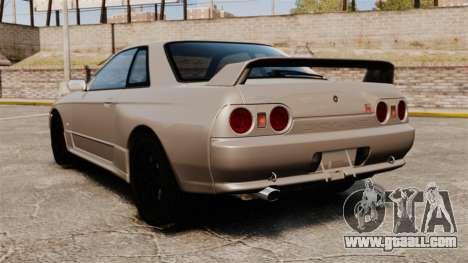 Nissan Skyline GT-R (R32) for GTA 4 back left view
