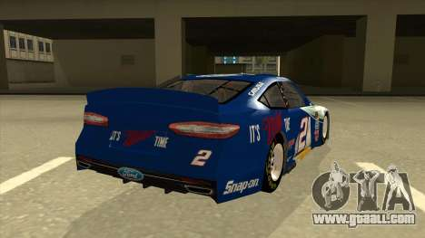 Ford Fusion NASCAR No. 2 Miller Lite for GTA San Andreas right view