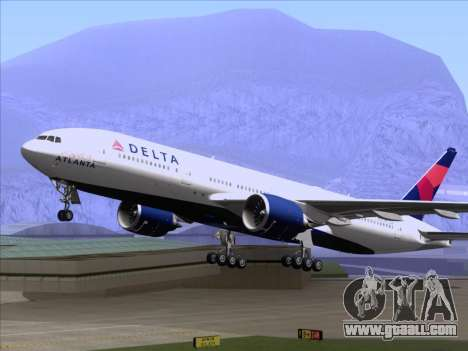 Boeing 777-200ER Delta Air Lines for GTA San Andreas inner view