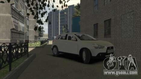 Mitsubishi ASX 2010 for GTA 4 right view