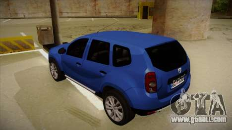 Dacia Duster SUV 4x4 for GTA San Andreas back view