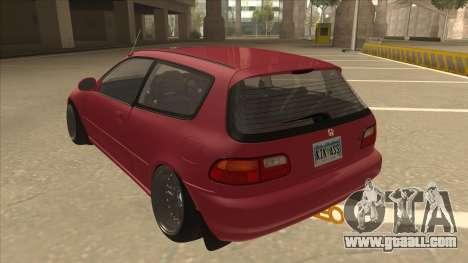 Honda Civic EG6 Camber for GTA San Andreas back view