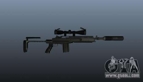 Automatic rifle M14 EBR v1 for GTA 4 third screenshot