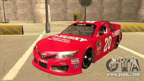Toyota Camry NASCAR No. 20 Husky for GTA San Andreas