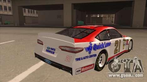 Ford Fusion NASCAR No. 21 Motorcraft Quick Lane for GTA San Andreas right view