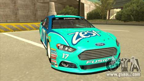 Ford Fusion NASCAR No. 17 Zest Nationwide for GTA San Andreas left view