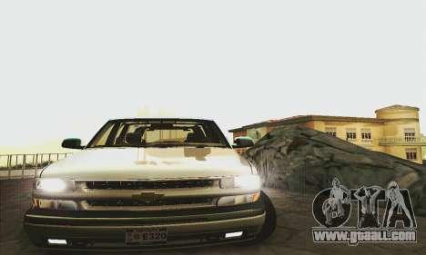 Chevrolet Suburban SAPD FBI for GTA San Andreas back left view