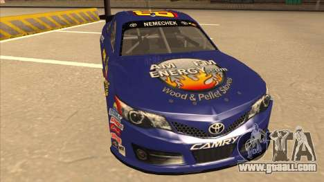 Toyota Camry NASCAR No. 87 AM FM Energy for GTA San Andreas left view