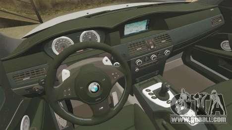 BMW M5 E60 Metropolitan Police 2006 ARV [ELS] for GTA 4 side view