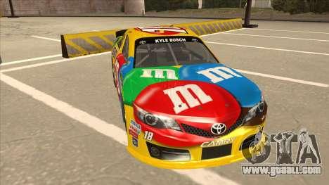 Toyota Camry NASCAR No. 18 MandMs for GTA San Andreas left view