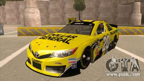 Toyota Camry NASCAR No. 20 Dollar General for GTA San Andreas