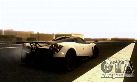 Pagani Huayra Cinque for GTA San Andreas right view