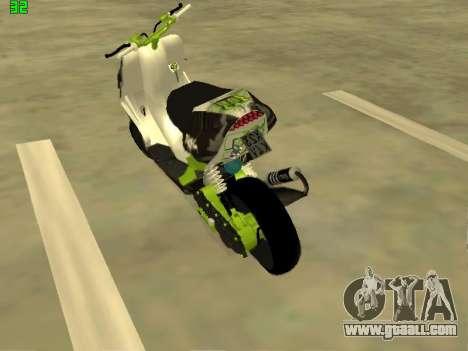 Yamaha Aerox for GTA San Andreas left view