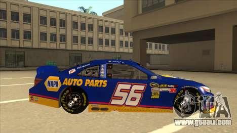 Toyota Camry NASCAR No. 56 NAPA for GTA San Andreas back left view