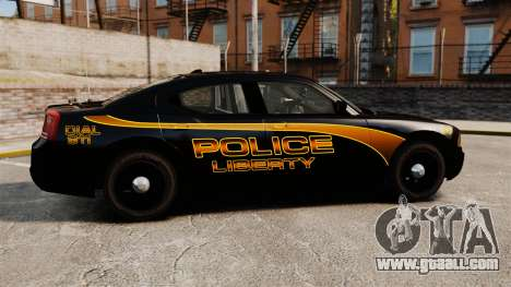 Dodge Charger 2008 LCPD Slicktop [ELS] for GTA 4 left view