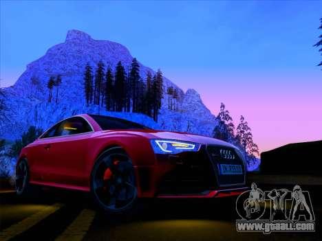 Audi RS5 2012 for GTA San Andreas inner view