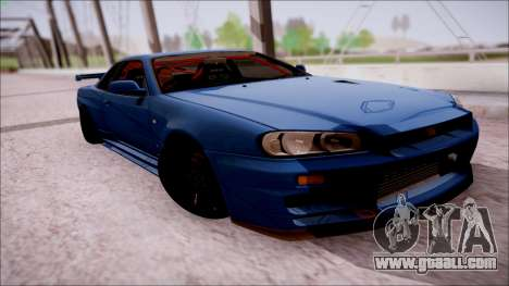 Nissan Skyline GT-R‎ R34 for GTA San Andreas right view