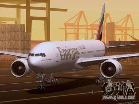 Boeing 777-21HLR Emirates for GTA San Andreas left view