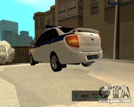 Lada Granta 2190 Police v 2.0 for GTA San Andreas back left view