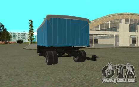 Trailer for KamAZa 5320 for GTA San Andreas left view
