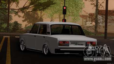 VAZ 2107 audio extrem for GTA San Andreas left view