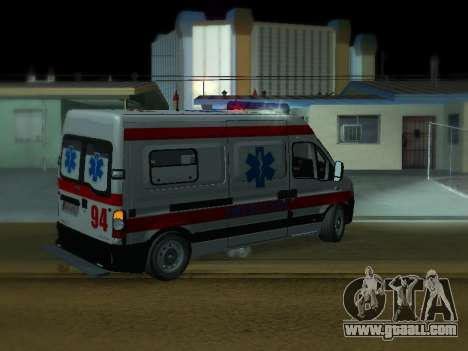 Renault Master Serbian AMBULANCE for GTA San Andreas right view