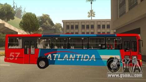 Marcopolo Torino G6 Linea 57 Atlantida for GTA San Andreas back left view