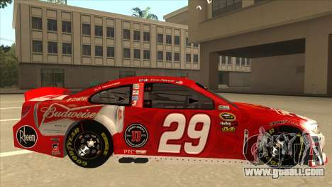 Chevrolet SS NASCAR No. 29 Budweiser for GTA San Andreas back left view