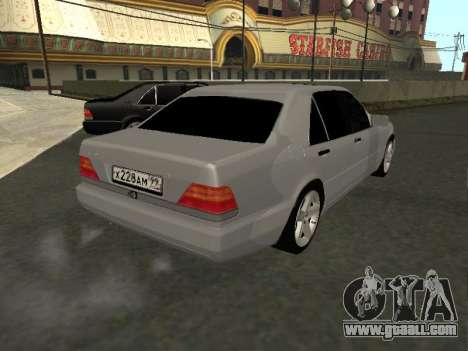 Mercedes-Benz W140 S600 for GTA San Andreas back left view
