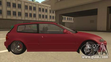 Honda Civic EG6 Camber for GTA San Andreas back left view