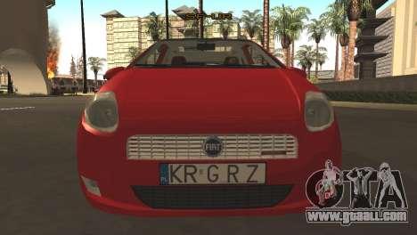 Fiat Grande Punto for GTA San Andreas left view