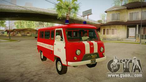 UAZ 452 Firefighter headquarters SA for GTA San Andreas back view