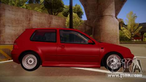Volkswagen Golf Mk4 Euro for GTA San Andreas back left view