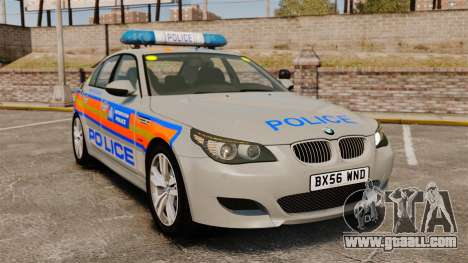BMW M5 E60 Metropolitan Police 2006 ARV [ELS] for GTA 4