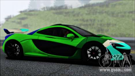 McLaren P1 2014 for GTA San Andreas bottom view
