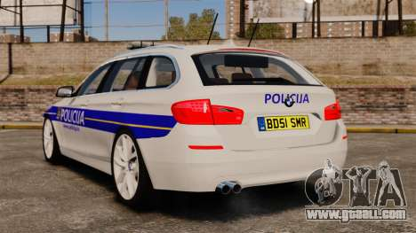 BMW M5 Touring Croatian Police [ELS] for GTA 4 back left view