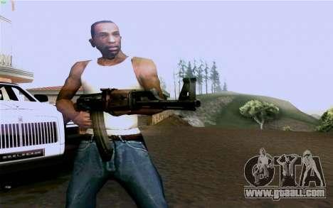 AK-47 for GTA San Andreas fifth screenshot