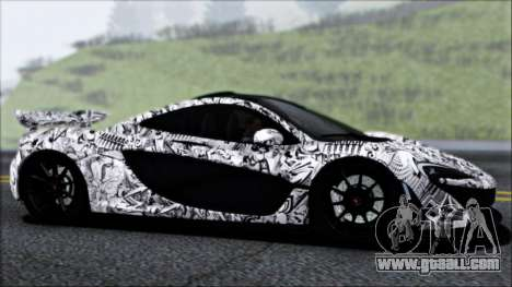 McLaren P1 2014 for GTA San Andreas upper view
